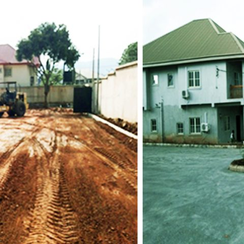 Golf Estate Compound Asphalting.Enugu, Enugu State